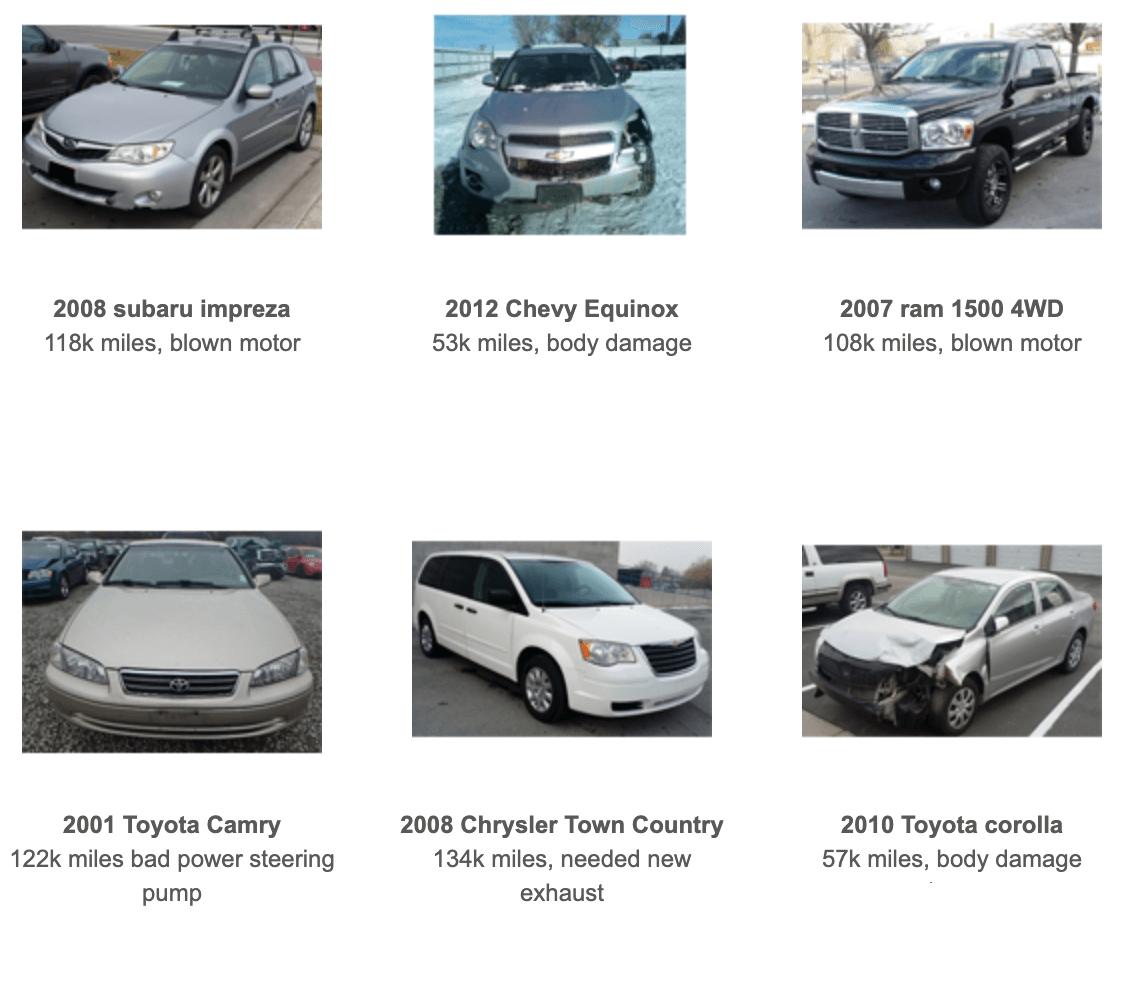 junk cars, older cars for sale in Utah